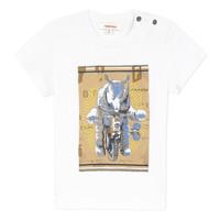 Vêtements Garçon T-shirts manches courtes Catimini LARIBI Blanc