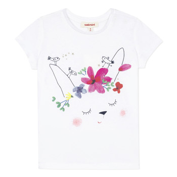 Vêtements Fille T-shirts manches courtes Catimini MAE Blanc