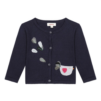 Vêtements Fille Gilets / Cardigans Catimini LOUNA Bleu