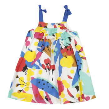 Vêtements Fille Robes courtes Catimini THEO Blanc