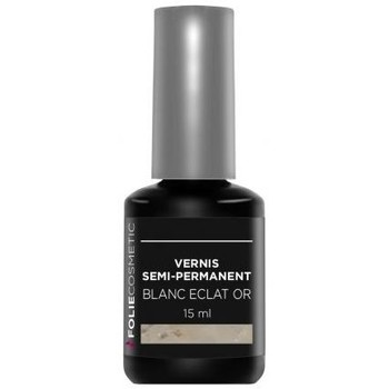 Beauté Femme Vernis à ongles Folie Cosmetic Vernis Semi permanent  Blanc Eclat or   15ml Blanc