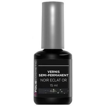 Beauté Femme Vernis à ongles Folie Cosmetic Vernis Semi permanent  Noir Eclat or   15ml Noir