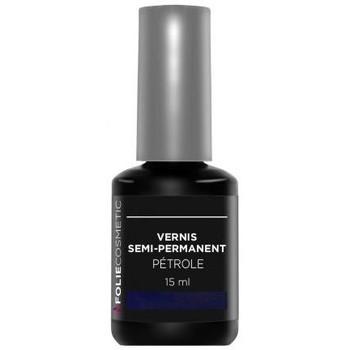 Beauté Femme Vernis à ongles Folie Cosmetic Vernis Semi permanent  Pétrole   15 ml Noir