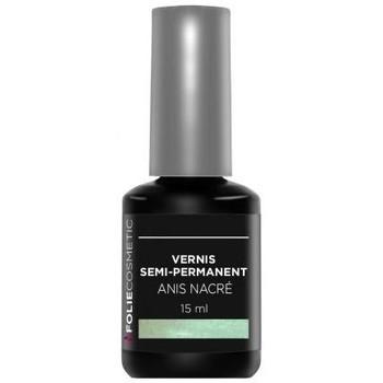 Beauté Femme Vernis à ongles Folie Cosmetic Vernis Semi permanent  Anis Nacré   15 ml Vert