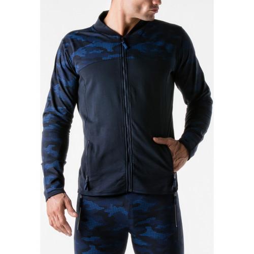 Vêtements Homme Vestes de survêtement Code 22 Veste de sport Urban Camo marine Bleu Marine