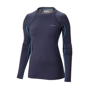 Vêtements Femme T-shirts manches longues Columbia MIDWEIGHT STRETCH LONG SL TOP NOCTURNAL SOUS VET F NOCTURNAL