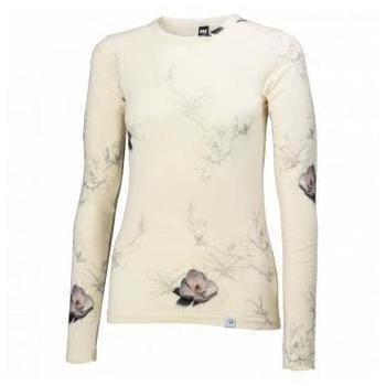 Vêtements Femme T-shirts manches longues Helly Hansen W WOOL GRAPHIC LS WHITE SOUS VETEMENT FEMME WHITE