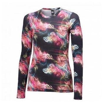 Vêtements Femme T-shirts manches longues Helly Hansen W WOOL GRAPHIC LS BLACK SOUS VETEMENT FEMME BLACK