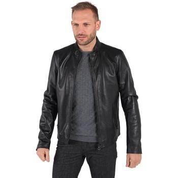 Vêtements Homme Vestes en cuir / synthétiques Daytona FERULLI SHEEP MANILA BLACK Noir
