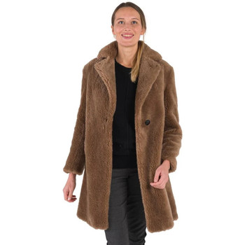 Vêtements Femme Manteaux Intuitions Paris FIRMA TEDDY MARRON Marron