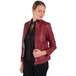 Vêtements Femme Vestes en cuir / synthétiques Rose Garden CALVI CURVE SHEEP MANILA RED CHIL Rouge
