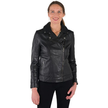 Vêtements Femme Vestes en cuir / synthétiques Rose Garden BREDA CURVE SHEEP MANILA BLACK Noir