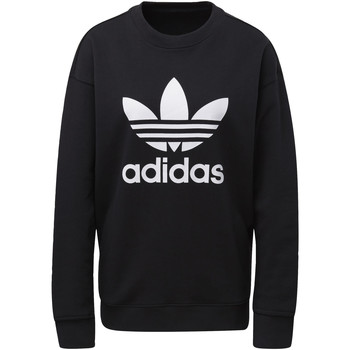 Vêtements Femme Sweats adidas Originals Sweat-shirt Trefoil Crew noir / blanc