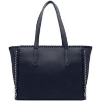 Sacs Femme Cabas / Sacs shopping Crazychic Grand Sac à Main Cabas Fourre-Tout à Chaînes Bleu