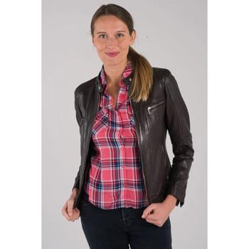 Vêtements Femme Vestes en cuir / synthétiques Daytona SILENE LAMB SANDY/AOSTA R-BROWN Marron foncé
