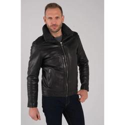 Vêtements Homme Vestes en cuir / synthétiques Daytona MUSIC FUR SHEEP ROMA BLACK Noir