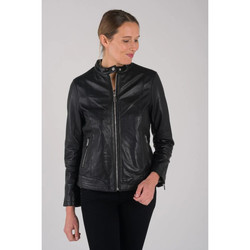 Vêtements Femme Vestes en cuir / synthétiques Rose Garden CALVI CURVE SHEEP MANILA BLACK Noir