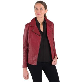 Vêtements Femme Vestes en cuir / synthétiques Rose Garden BREDA CURVE SHEEP MANILA RED CHIL Rouge