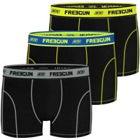 Sous-vêtements Garçon Boxers Freegun Lot de 3 Boxers Garçon Uni Noir Noir