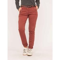 Vêtements Pantalons Dona X Lisa Pantalon chino slim ELLEN Rouge brique