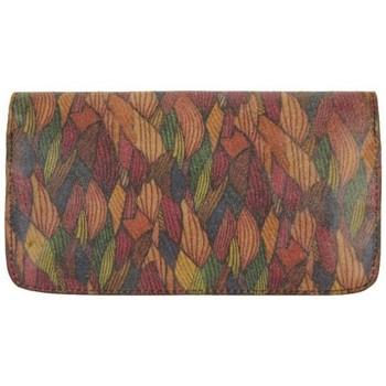 Sacs Femme Porte-monnaie Patrick Blanc Porte monnaie plat  Nouméa cuir motif marron Multicolor