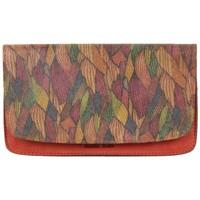 Sacs Femme Porte-monnaie Patrick Blanc Porte monnaie plat  Nouméa cuir motif rouge Multicolor