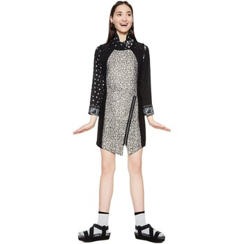 Vêtements Femme Robes courtes Desigual Robe Femme Heli Noir 18SWVW35 38