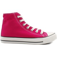 Chaussures Femme Baskets montantes Kebello Baskets montantes en toile Taille : F Rose 36 Rose
