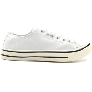 Chaussures Femme Baskets basses Kebello Baskets basses en toile F Blanc Blanc