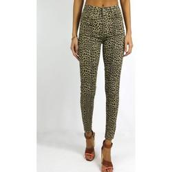 Vêtements Femme Leggings Kebello Jeans motifs léopard F Beige Beige