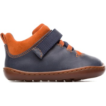 Chaussures Garçon Boots Camper basket cuir Peu Cami FW bleufoncorange