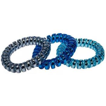 Beauté Femme Accessoires cheveux D'ana - Lot de 3 Elastiques ressort Bleu nacré Bleu