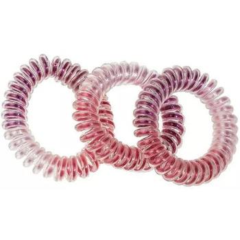 Beauté Femme Accessoires cheveux Atout Beauté Lot de 3 Elastiques ressort multi couleurs Rose