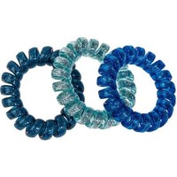Beauté Femme Accessoires cheveux Atout Beauté Lot de 3 petits Elastiques Ressort Pailletés Bleu