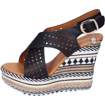 Chaussures Femme Sandales et Nu-pieds Enrico Coveri sandales cuir synthétique noir