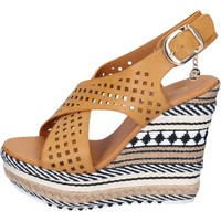 Chaussures Femme Sandales et Nu-pieds Enrico Coveri sandales cuir synthétique marron
