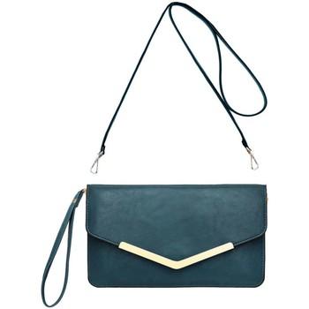Sacs Femme Pochettes / Sacoches Crazychic Sac Bandoulière Enveloppe - Portefeuille Bleu