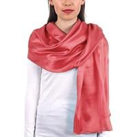 Accessoires textile Femme Echarpes / Etoles / Foulards Allée Du Foulard Etole soie unie - Couleur - Pêche Pêche