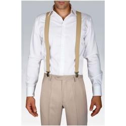 Vêtements Homme Cravates et accessoires Kebello Bretelles extensibles à clips Taille : H Beige Taille unique Beige