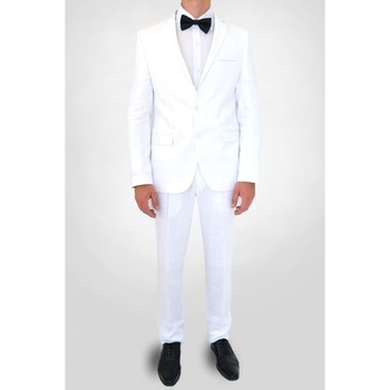 Vêtements Homme Costumes  Kebello Costume en lin H Blanc Blanc