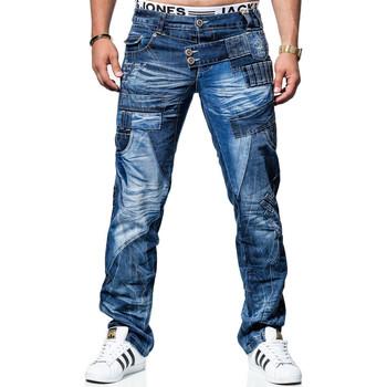Vêtements Homme Jeans droit Kosmo Lupo Jean  fashion Jean KL050 bleu Bleu