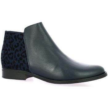 Chaussures Femme Boots So Send Boots cuir Bleu