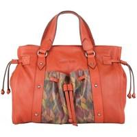 Sacs Femme Sacs porté main Patrick Blanc Sac à main  Nouméa cuir motif orange rouille Multicolor