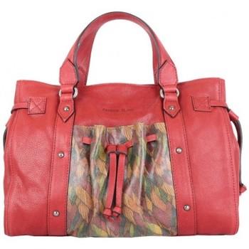 Sacs Femme Sacs porté main Patrick Blanc Sac à main  Nouméa cuir motif rouge rouge