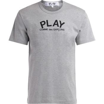 Vêtements Homme T-shirts manches courtes Comme Des Garcons T-Shirt  en coton gris avec logo Gris