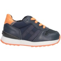 Chaussures Enfant Baskets basses Hogan HXT4840CF90MB9748S Bleu / Orange