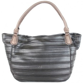 Sacs Femme Cabas / Sacs shopping Patrick Blanc Sac cabas  April imitation motif plissé noir Noir
