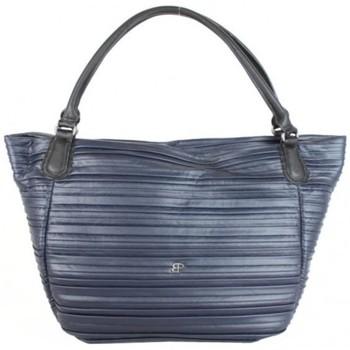 Sacs Femme Cabas / Sacs shopping Patrick Blanc Sac cabas  April imitation motif plissé marine Multicolor