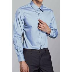 Vêtements Homme Chemises manches longues Kebello Chemise classique H Ciel Ciel