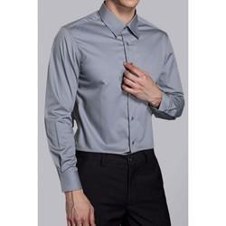 Vêtements Homme Chemises manches longues Kebello Chemise classique Taille : H Gris S Gris